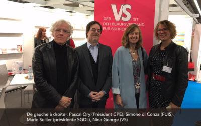 Déclaration commune à Francfort de quatre associations d'auteurs européennes